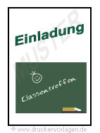 einladung klassentreffen - vorlage, Einladung